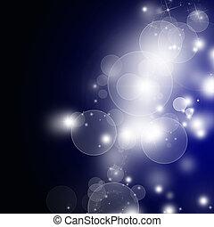 azul, bokeh, abstratos, luz, fundo