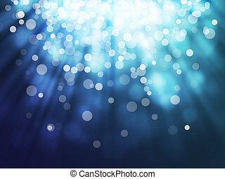 azul, bokeh, resumen, fondos