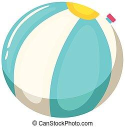 azul, bola branca, praia
