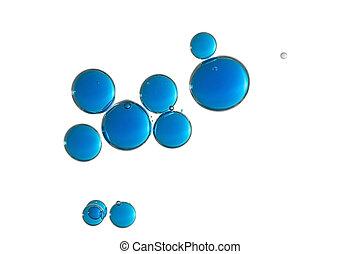 azul, bolhas