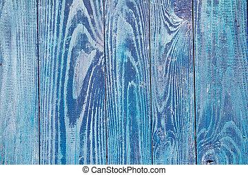 azul, bom, porta, resistido, textura, madeira, grunge