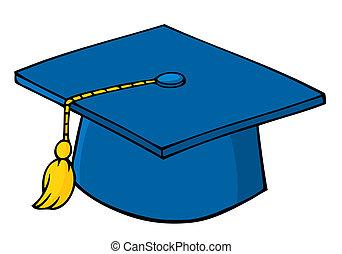 azul, boné graduação