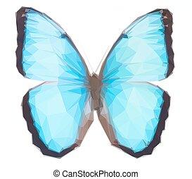 azul, borboleta, morpho