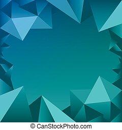 azul, borda, polígono, ícone