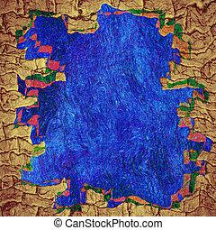 azul, border., quadro, espaço, dentro, fundo, abstratos