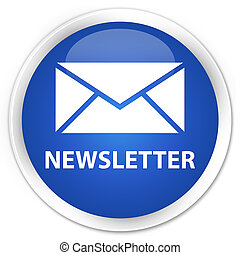 azul, botão,  newsletter