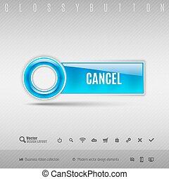 azul, botão, plástico