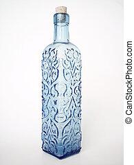 azul, botella, 2