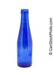 azul, botella