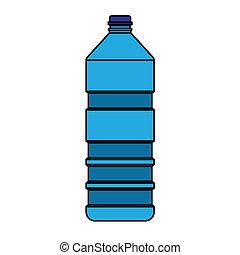 azul, botella, vector