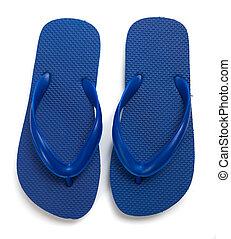 azul, branca, flipflops, fundo