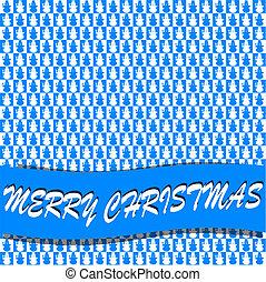 azul, branca, quadrados, bonecos neve