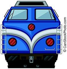 azul, branca, trem, desenho, fundo