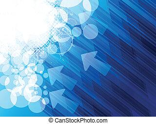 azul, brilhante, grunge, abstratos