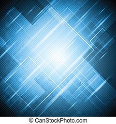 azul, brillante, resumen, vector, diseño