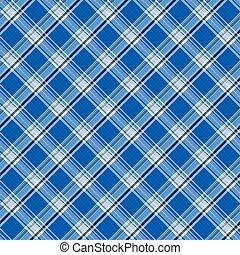 azul, brillante, tartán