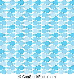 azul, bulbo, padrão
