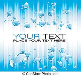 azul, burbujas, flayer, líneas