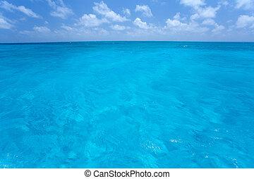 azul, céu, Caraíbas, mar