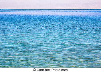 azul, céu, mar, Horizonte