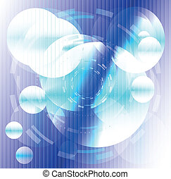 azul, círculo, listras, fundo