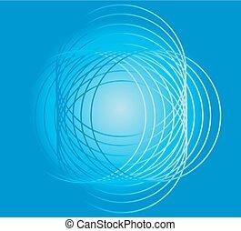 azul, círculo, seamless, fundo