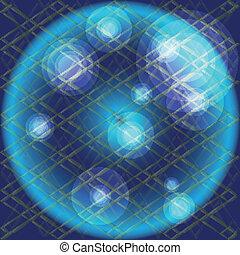 azul, círculo, textura, fundo
