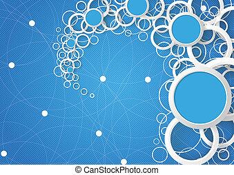 azul, círculos, céu, anéis, pó, branca