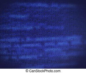 azul, código binário, abstratos, digital, tela