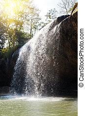 azul, Cachoeira, Fluxo, Vietnã