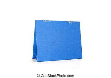 azul, calendário, ligado, um, fundo branco, isolado