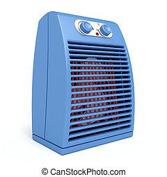 azul, calentador, eléctrico