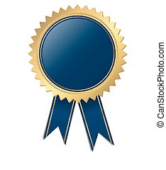 azul, calidad, -, plantilla, sello