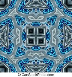 azul, calidoscopio