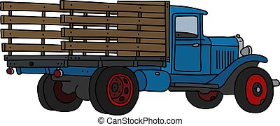 azul, caminhão, clássicas