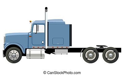 azul, caminhão