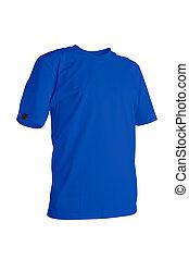 azul, Camiseta, cobalto
