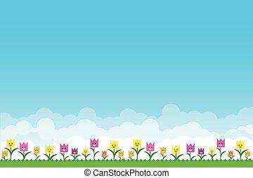 azul, capim, natureza, céu, experiência verde, flores