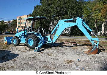 azul, cargador frontal