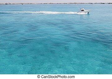 azul, caribe, turquioise, pesca, mar, barco