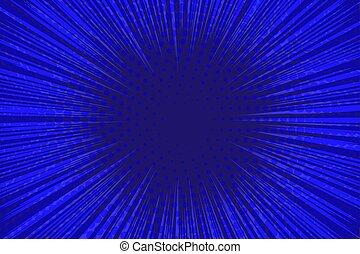 azul, caricatura, fundo