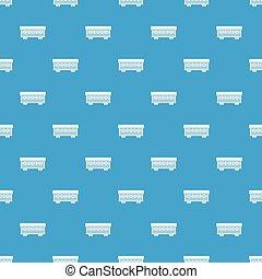 azul, carro passageiro, seamless, trem, padrão
