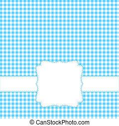 azul, cartão, em branco