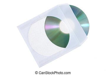 azul, caso, dvd, aislado, cd, papel, plano de fondo, blanco,...