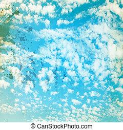 azul, celestial, paisagem, fundo, para, um, desenho