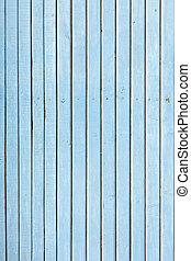 azul, cerca, antigas, resistido, pintado, madeira, naturally