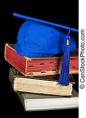 azul, chapéu grad