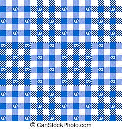 azul, checkered, padrão, -, pretzel, endlessly