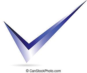 azul, checkmark