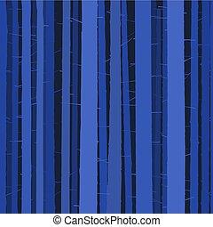 azul, cheio, woods., árvore, seamless, escuro, floresta, fundo